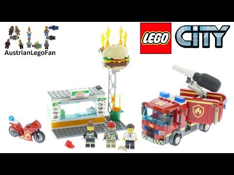 Vidéo LEGO City 60214 : L'intervention des pompiers au restaurant de hamburgers