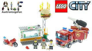 Lego City 60214 Burger Bar Fire Rescue Speed Build