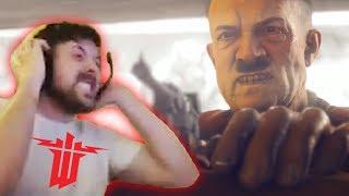 Forsen reacts to Hitler scene (Wolfenstein 2)