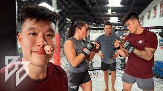 POWERLIFTER FIGHTS FEMALE UFC FIGHTER!