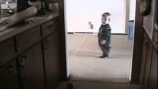 Boy seeking attention through tantrum