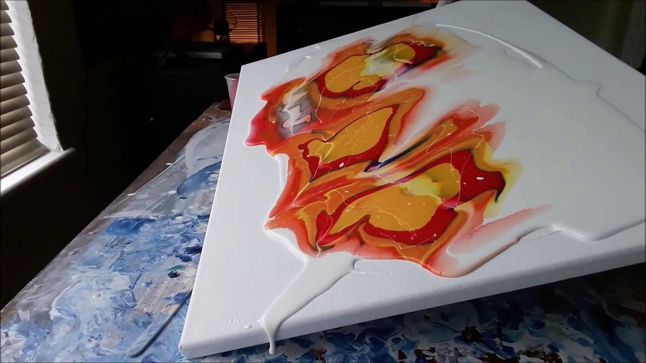 painting tutorials acrylic fluid pouring experiment by paul startart