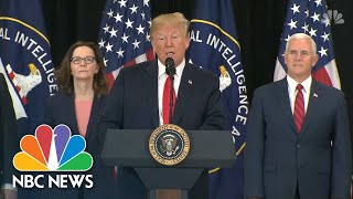 President Donald Trump Praises Gina Haspel, Thanks CIA Officers At Swearing-In Ceremony | NBC News - Video Youtube