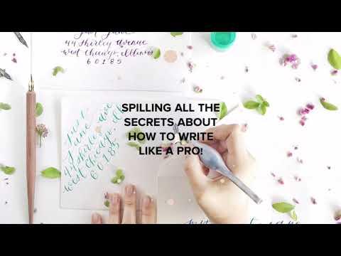 Calligraphy course promo!