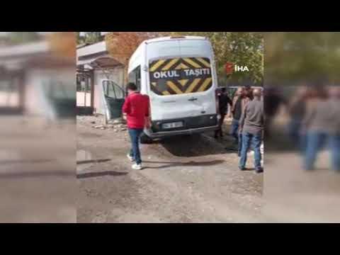 Ağrı'da okul servisi kaza yaptı: 7 yaralı