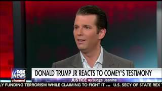 Justice With Judge Jeanine Trump Jr. on his father