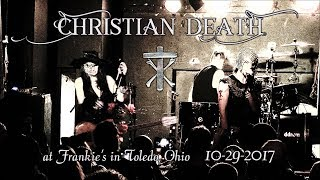 CHRISTIAN DEATH † soundboard audio Sextreme Fest live performance 10-29-2017 @ Frankie's, Toledo