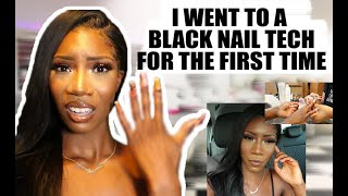 FIRST TIME DOING MY NAILS AT A BLACK OWNED NAIL TECH BUSINESS ?? | VLOG | VanessaK7