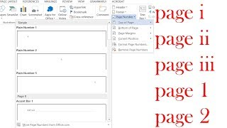how to add different page numbers in word