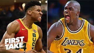 Shaq is wrong about Giannis being better than him – Stephen A. | First Take