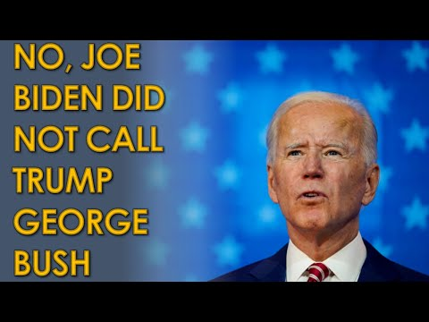 No, Joe Biden did NOT confuse Trump for George Bush; was talking about George Lopez