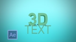 How To Create 3D Text In CS6 - After Effects CS6 Tutorial