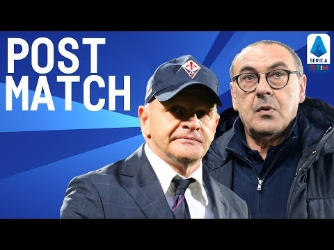 Juventus 3-0 Fiorentina   Sarri & Iachini Post Match Press Conference   Seria A TIM