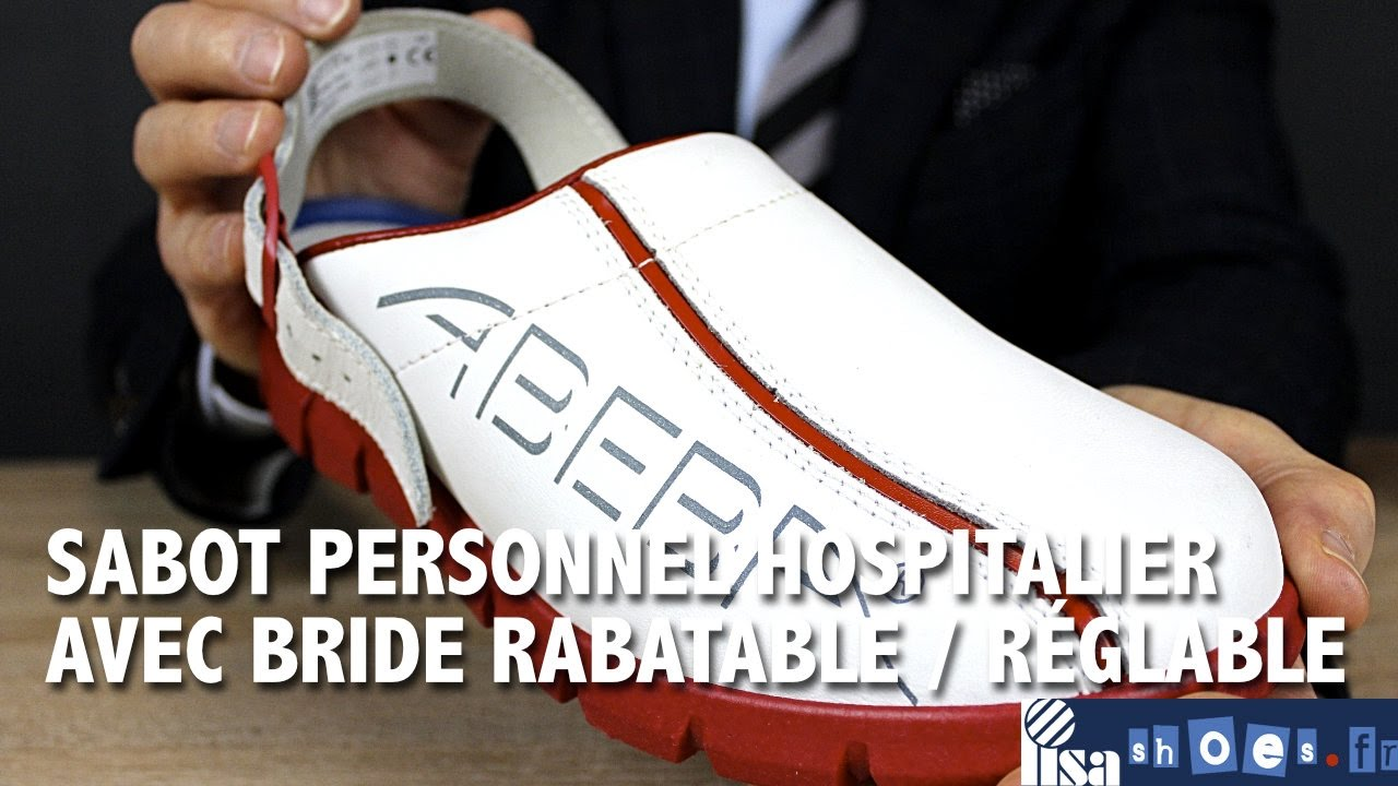 42070037a48064 Sabot pour le personnel médical et hospitalier comme les infirmières et les  aides soignantes. En effet, il dispose d'une bride réglable très solide qui  ...