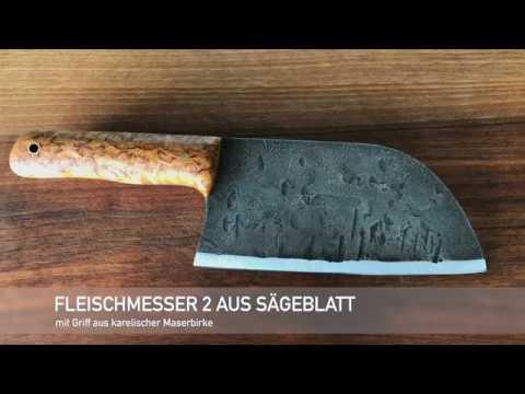 Fleischmesser V2 aus altem Sägeblatt
