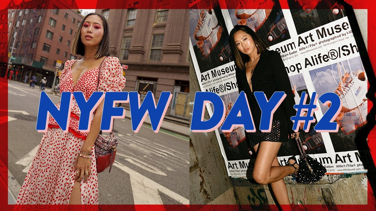 NYFW Day 2: Workout Routine, Red Eyeshadow look & Self-Portrait Show // Vlog #62 | Aimee Song