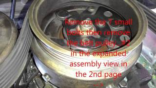 How to replace Mitsubishi Lancer 97 pizza AC compressor bearing