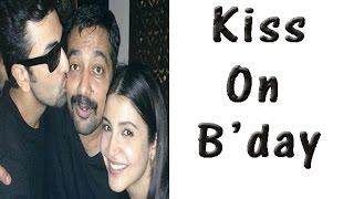 Anurag Kashyap Gets A Kiss On His Birthday  TOI