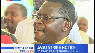 UASU issue a 7 days strike Notice over Government failure to honour CBA agrrement