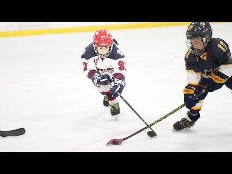 Kids Hockey Buffalo Regals take on Burlington Eagles Super Close Game