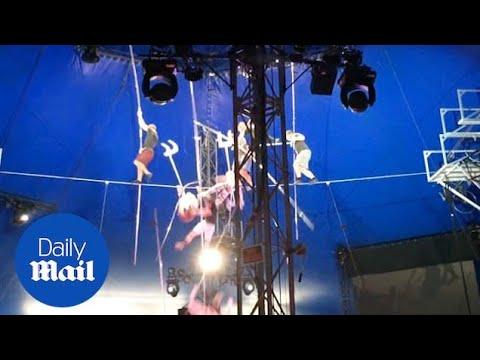 Сразу пять человек сорвались с высоты 12 метров в цирке