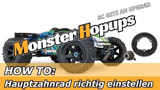 HOW TO: Flankenspiel - Hauptzahnrad und Motorritzel richtig einstellen.
