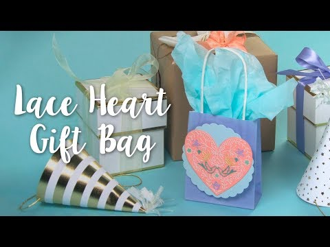 Intricate & Beautiful DIY: Lace Heart Gift Bag!