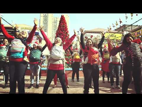 GroovaRoo Holiday Flashmob in Delhi, India