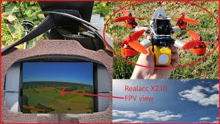 DRONE FPV | DÉMONSTRATION DE VOL | REALACC X210 | (beaux paysages de champs)