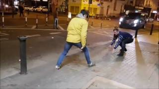 Two lads mocking Conor McGregor on the streets of Dublin last night and this happens........