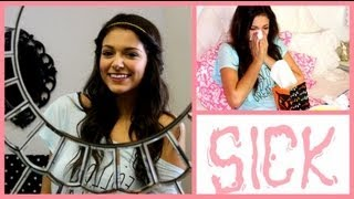 Sick/Lazy Days Hair, Makeup & Outfit! + My sick day essentials