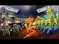 NOOB'LAR VS ZOMBİ İSTİLASI #2 - Minecraft Dizisi