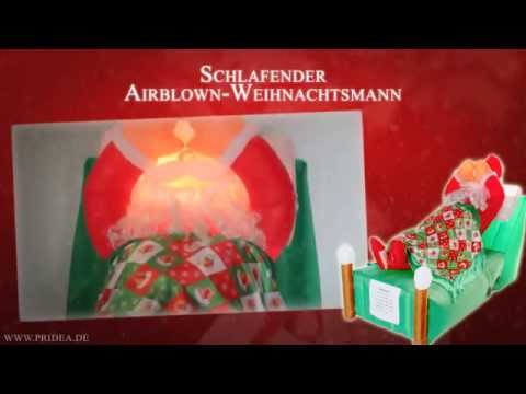 Christmas Deko-Highlight Tipp animierter schlafender Weihnachtsmann Dekoration Weihnachten 2015
