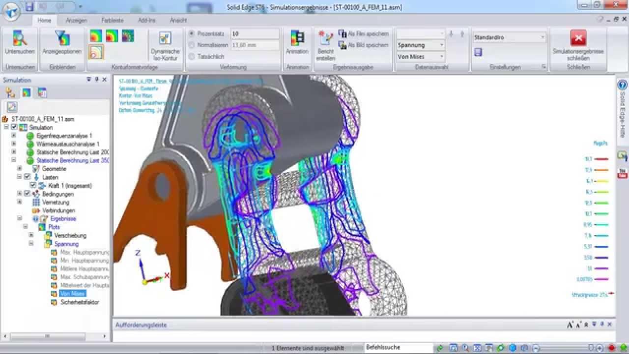 Vorschaubild: Solid Edge: FEM-Werkzeuge für den Konstrukteur