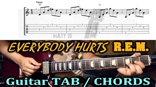 Everybody Hurts (REM) GUITAR TAB And CHORDS   EASY GUITAR SONG
