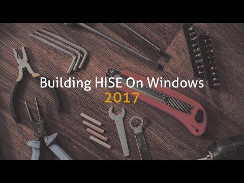 Building HISE on Windows 2017
