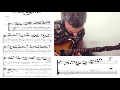 This is a B minor neoclassical arpeggio etude I wrote, it's a kind of Yngwie Malmsteen style.