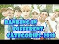 BTS Ranking in Different Categories 2018 with videos