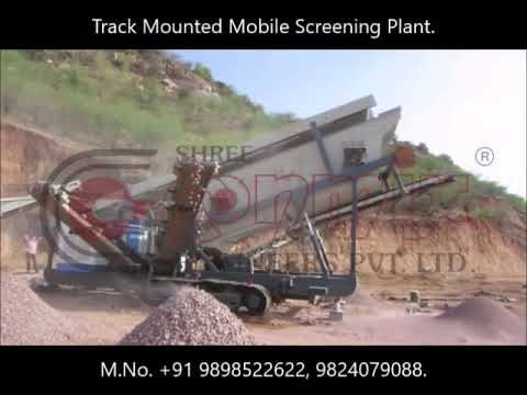 Track Mounted Mobile Screening Plant
