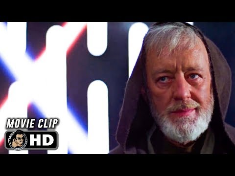 STAR WARS: A NEW HOPE Clip - Kenobi Vs Vader (1977) Alec Guinness