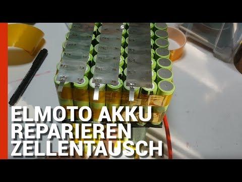 Akku Selber Bauen ELMOTO Akku reparieren - Elmoto LIPO Akku Zellentausch auf 18650 -
