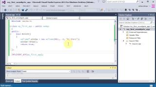 First wxWidgets application on Windows with VC++, a tutorial