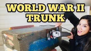 FOUND WW2 MILITARY TRUNK I Bought Abandoned Storage Unit Locker / Opening Mystery Boxes Storage Wars