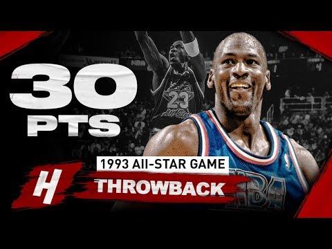 NBA Throwback: Michael Jordan 30 Points Full Highlights | 1993 NBA All-Star Game