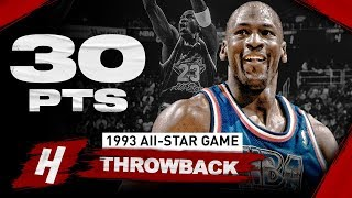 NBA Throwback: Michael Jordan 30 Points Full Highlights | 1993 NBA All-Star Game