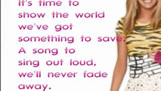 "Hannah Montana Forever - ""Wherever I Go"" Feat Lily With Lyrics On Screen"