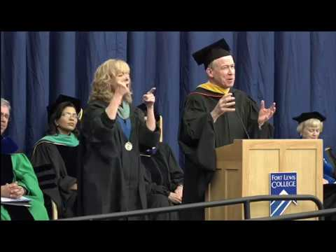 Fort Lewis College Spring Commencement: Colorado Governor John Hickenlooper