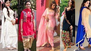 New Punjabi Suits Designs//Punjabi Suit Salwar Designs//Punjabi Salwar Kameez With Contrast Dupatta