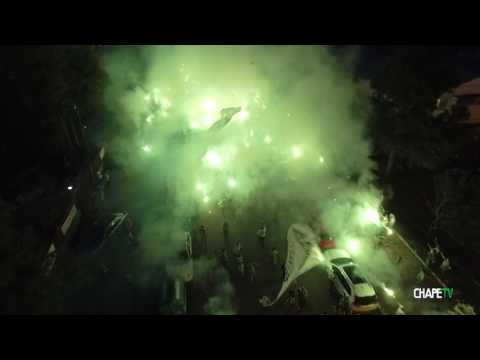 """BANDEIRAÇO VERDE E BRANCO!"" Barra: Barra da Chape • Club: Chapecoense"