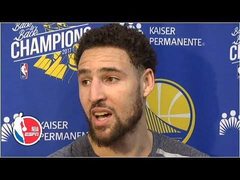 Klay Thompson rolls his eyes after finding out he didn't make All-NBA in 2019 | 2019 NBA Playoffs